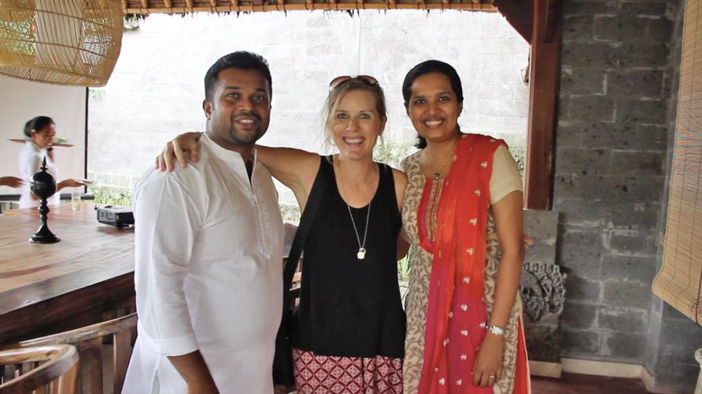 Kylie van der Veer with Dr. Ninnu and Dr. Aparna